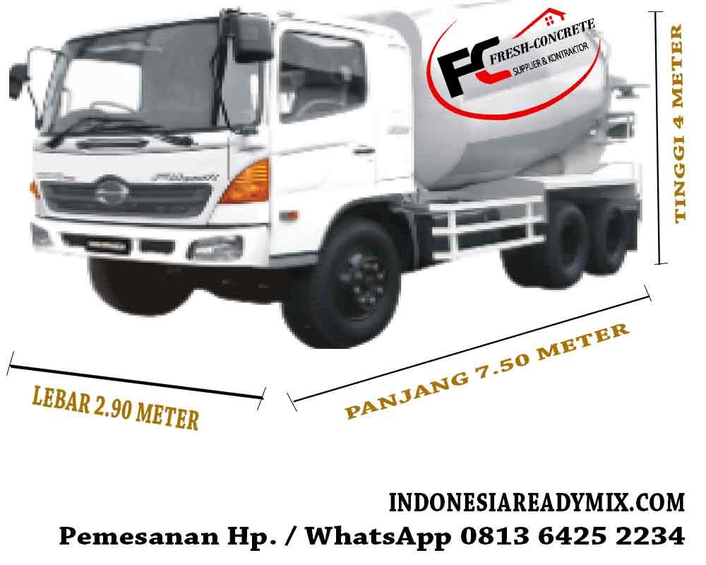 harga beton ready mix kapasitas mobil molen truk besar